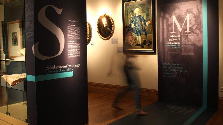 modułowe systemy wystawiennicze projekt wystawy szlachta śląska muzeum miedzi grafika zwiedzający