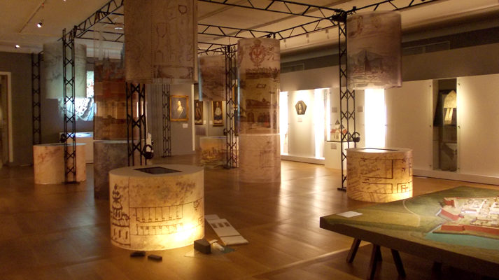 projekt wystawy zamek królewski warszawa pod wspólnym niebem konstrukcja sala