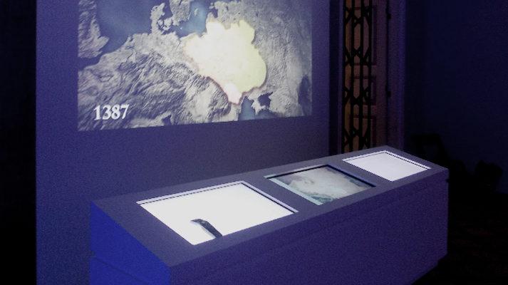 projekt wystawy zamek królewski warszawa pod wspólnym niebem multimedia stoły dotykowe